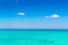 Beautiful tropical Maldives island with white sandy beach and se Royalty Free Stock Images