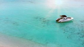 Beautiful tropical Maldives island with white sandy beach and sea in sunshine day for holiday vacation . stock video