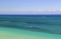 Beautiful, Tropical Ocean Water - Aerial View or Top View Royalty Free Stock Photos