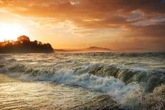 Coast in Costa Rica stock photo