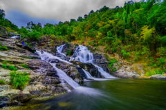 Beautiful tropical rainforest and stream in deep forest, Royalty Free Stock Photo