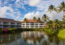 Beautiful Tropical Resort. Beautiful tropical summer day landscape in Kauai, Hawaii Islands Stock Images