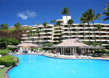 Beautiful tropical resort. Swimming pool in a tropical resort Stock Photography