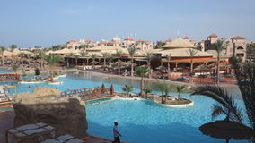 Beautiful tropical resort Aqua Vista in Hurghada is one of the Pickalbatros stock video footage