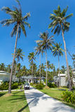 Beautiful tropical resort bungalows Royalty Free Stock Image