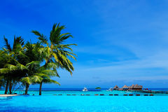 Beautiful tropical resort in Maldives Royalty Free Stock Images