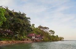 Beautiful tropical resort on sea beach Royalty Free Stock Photos