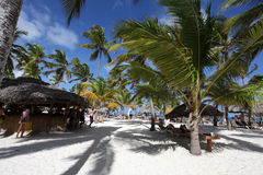 Beautiful Tropical Resort With Beach Bar Royalty Free Stock Images