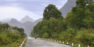 Beautiful tropical road Royalty Free Stock Photography