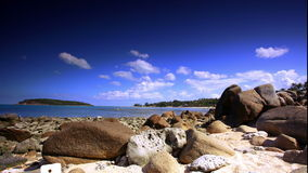 Beautiful tropical rocky beach with rocks on the. Island of Koh Samui in Thailand. 4k time lapse video 1920x1080 stock video