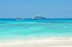 Beautiful Tropical Sand Beach Royalty Free Stock Photo