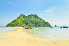 Beautiful tropical sand beach Stock Images