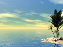 Beautiful Tropical Scene Royalty Free Stock Image