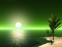 Beautiful Tropical Scene Stock Image