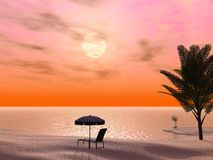 Beautiful Tropical Scene Royalty Free Stock Images