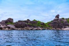 Beautiful tropical sea and blue sky of Similan island, Phang-nga, Thailand Royalty Free Stock Image