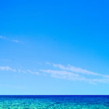 Beautiful tropical sea and sky - Summer scene background royalty free stock photo