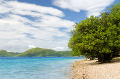 Beautiful tropical sea under blue sky Royalty Free Stock Image