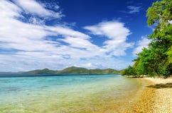 Beautiful tropical sea under blue sky Stock Photography