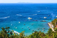 Beautiful tropical  Seascape in blue sky at Koh Larn, Pattaya, T Royalty Free Stock Images