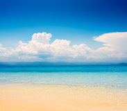 Beautiful tropical seascape in the daytime Royalty Free Stock Images