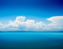Beautiful tropical seascape in the daytime Royalty Free Stock Photos