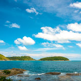 Beautiful tropical seascape with islands and stones Stock Photography