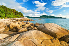 Beautiful tropical seascape rocky seacoast Royalty Free Stock Photography