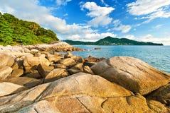 Beautiful tropical seascape rocky seacoast. Phuket Island, Thailand Royalty Free Stock Photography