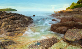 Beautiful tropical seascape rocky seacoast,Phuket Island Stock Images