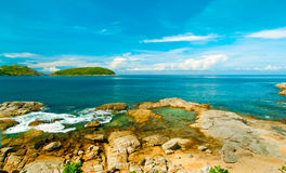 Beautiful tropical seascape rocky seacoast,Phuket Island Royalty Free Stock Photography
