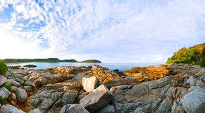 Beautiful tropical seascape rocky seacoast,Phuket Island Stock Photo