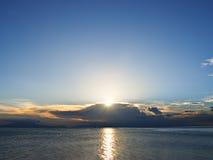 Beautiful Tropical Seaside Sunset Stock Photo