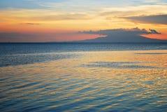 Beautiful Tropical Seaside Sunset Stock Photos