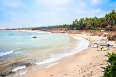 Beautiful  tropical Sinquerim beach Stock Image