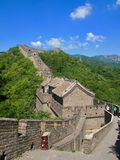 The great wall of china on a sunny day - very natural foto - royalty free stock photo