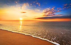 Beautiful tropical sunrise. Beautiful tropical sunrise on beach Royalty Free Stock Photos