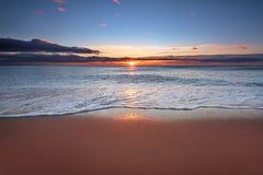 Beautiful tropical sunrise. Beautiful tropical sunrise on the beach Royalty Free Stock Image