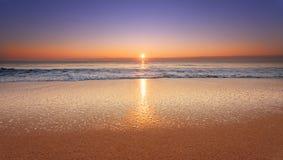 Beautiful tropical sunrise. Beautiful tropical sunrise on the beach Royalty Free Stock Images