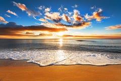 Beautiful tropical sunrise. Beautiful tropical sunrise on the beach Royalty Free Stock Photos