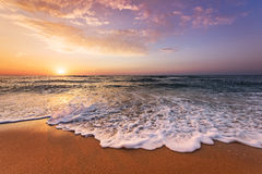 Beautiful tropical sunrise. Beautiful tropical sunrise on the beach Royalty Free Stock Image