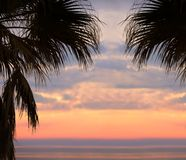 Beautiful tropical sunset Stock Images