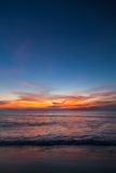 Beautiful tropical sunset on the beach Stock Photography