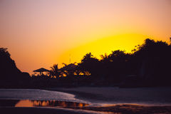 Beautiful tropical sunset In Goa, India Royalty Free Stock Images