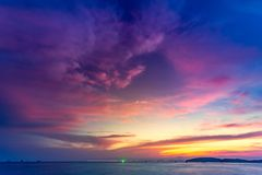 Beautiful tropical sunset in Krabi, Thailand Royalty Free Stock Photo