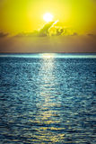 Beautiful tropical sunset ocean background Royalty Free Stock Photo