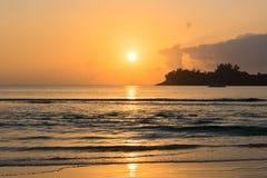 Beautiful tropical sunset ocean background Stock Photo