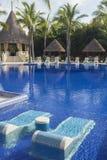 Beautiful tropical swimming pool Stock Images