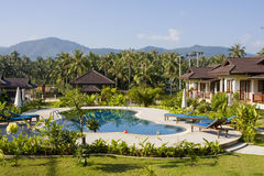 Beautiful tropical swimming pool.Thailand. Royalty Free Stock Image