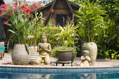 Beautiful tropical swimming pool.Thailand. Stock Photography